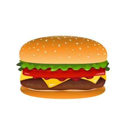Vector hamburger clip art illustration