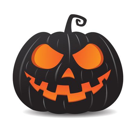 Pumpkin jack o lantern smiley face