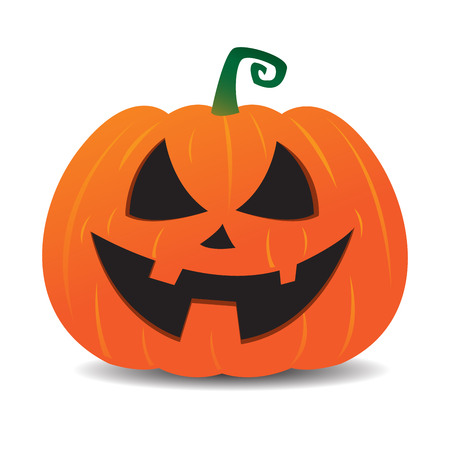 Halloween pumpkin jack o lantern smiley cartoon face