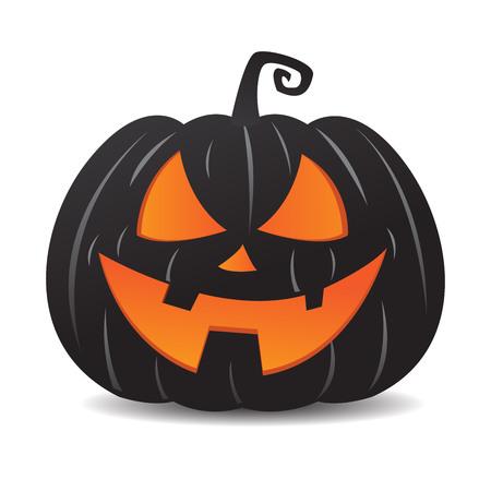 Halloween pumpkin jack o lantern smiley cartoon face Фото со стока - 112316627