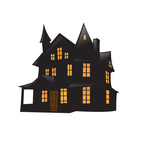 Vector haunted house