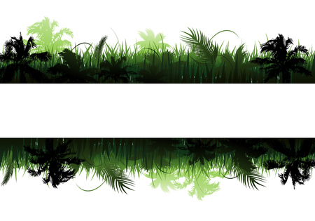 Jungle vector landscape vector illustration background Illusztráció