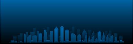 CItyscape vector city at night 일러스트
