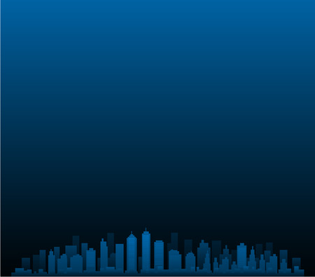 CItyscape vector city at night Illustration