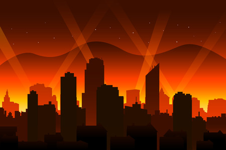 movie red carpet background and city Illustration