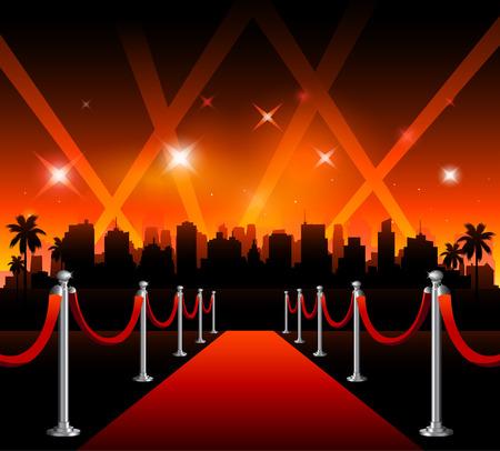 Toont nu vector banner teken voor theaterfilm