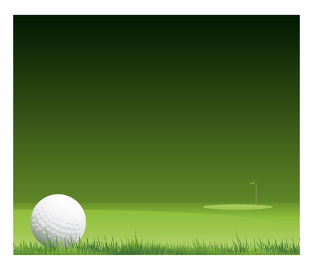 golf tournament vector on dark green background Ilustração