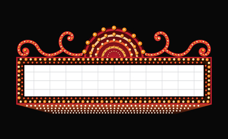 Jaskrawo vintage świecący retro kino neonowy znak