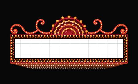 Leuchtendes Vintage leuchtendes Retro-Kino-Neonschild