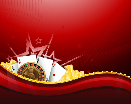 casino sign background with gambling elements EPS 10 Illustration
