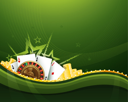 casino sign background with gambling elements EPS 10 Illusztráció