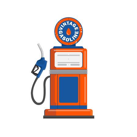 Vintage gas pump gun vector illustration on white background
