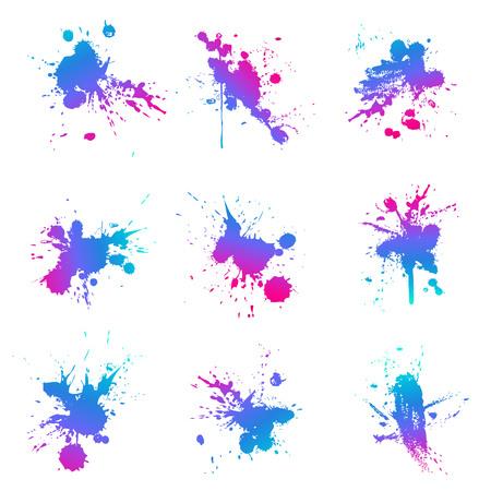 Éclaboussure de peinture fluo Vecteurs