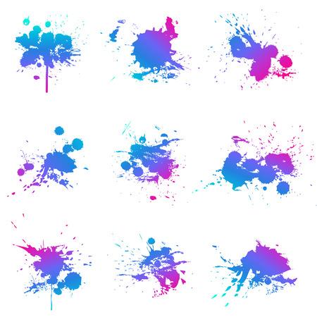 Éclaboussure de peinture fluo