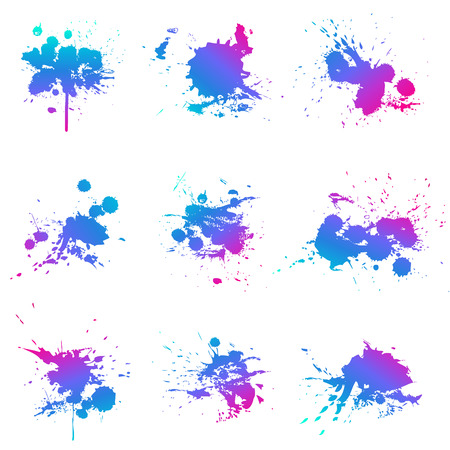Paint splat fluo Stock Illustratie