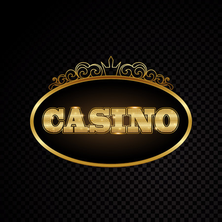 Brightly casino glowing vintage casino letters sign