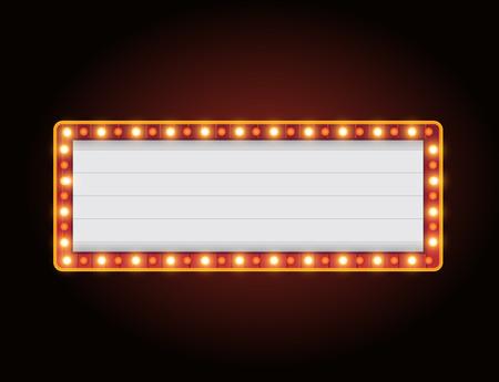 Hell leuchtendes Casino-Buchstabenzeichen im Vintage-Stil
