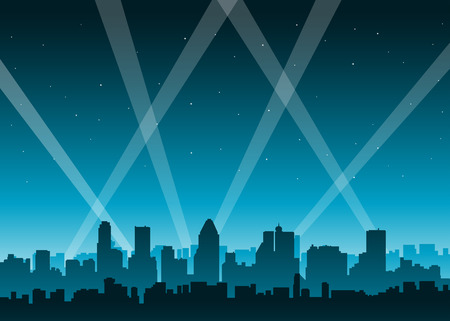 CIty lights party at night background