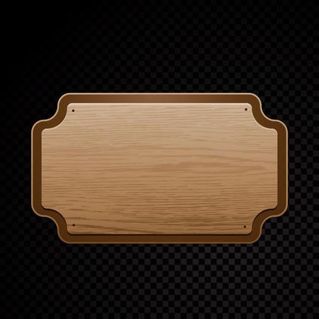 Vector realistic illustration of wooden signboard Illusztráció