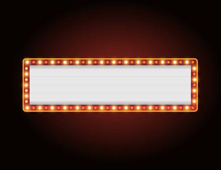 Helles Theater, das Retro-Kino-Leuchtreklame leuchtet