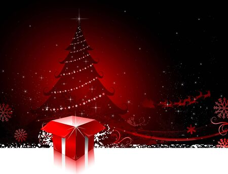 Red Christmas greeting card design background