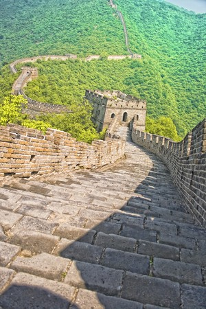summer view of the great wall with great perspective