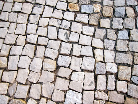 detail of a portuguese cobbled street Stock Photo - 12422858