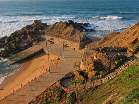 portuguese golden coast seashore
