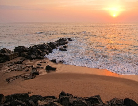 portuguese atlantic coast in winter
