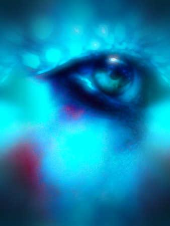 abstract eye: abstract eye Stock Photo