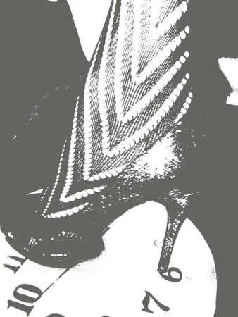 stilletto: black and white stillettos
