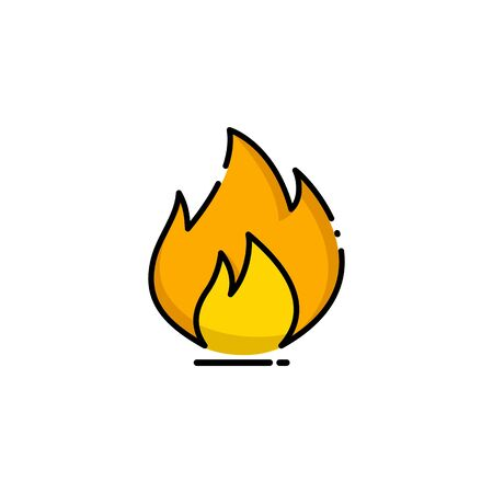 Fire flame illustration isolated, fire flame element - burn sign symbol - Vector Иллюстрация