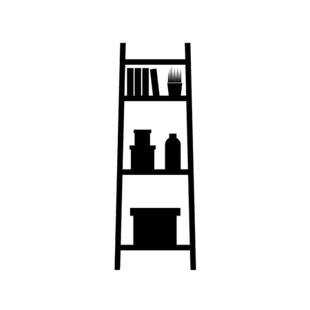 bookshelf icon. Education, academic degree. Premium quality graphic design. Signs, outline symbols collection, simple icon for websites, web design, mobile app Çizim