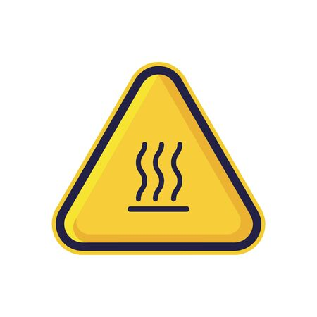 Burn Hazard Sign Isolated On White Background. ISO Triangle Warning Symbol Simple, Flat Vector, Icon You Can Use Your Website Design, Mobile App Or Industrial Design