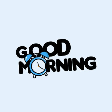 Alarm clock ringing. Wake-up time. vector illustration isolated white background - Vector