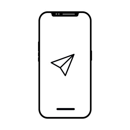 Send icon isolated on smart phone screen. flashlight symbol modern simple vector icon for web site or mobile app
