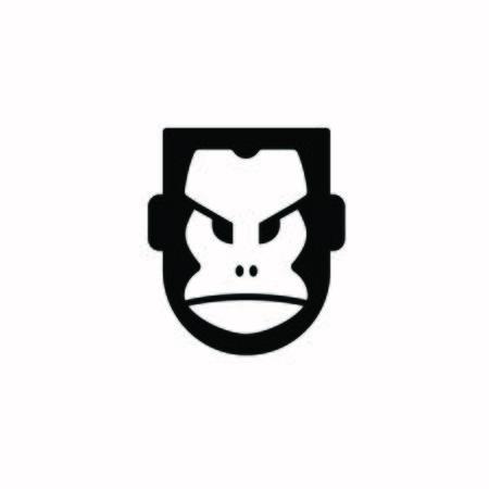 Gorilla Shield Logo - King Kong Vector Çizim