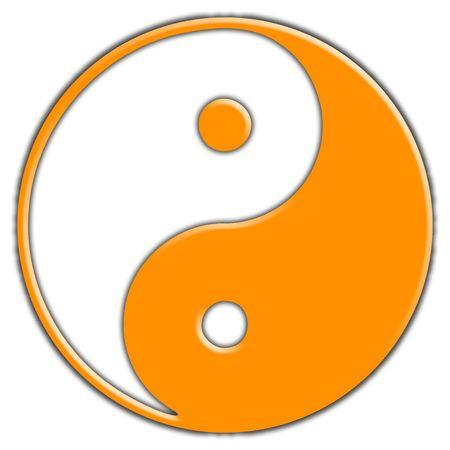 yang yin: Un simple color yin y el yang s�mbolo, viene en muchos otros colores. Foto de archivo