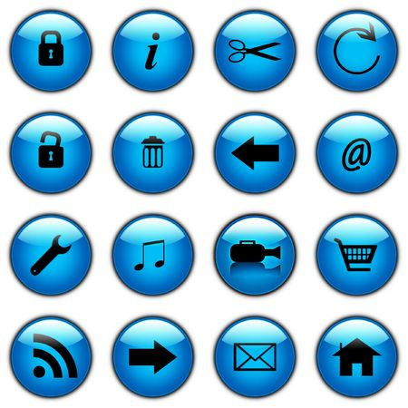 come in:  A Set of coloured web icons to save you the trouble of making them by hand you self. They come in a variety of colours they DO include a video camera icon.