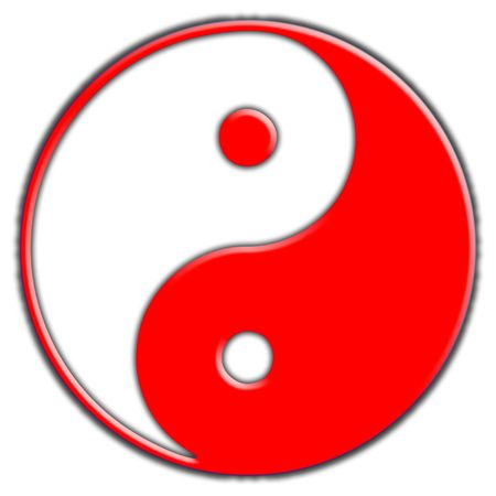 A simple Coloured yin and yang symbol, comes in many other colours. photo