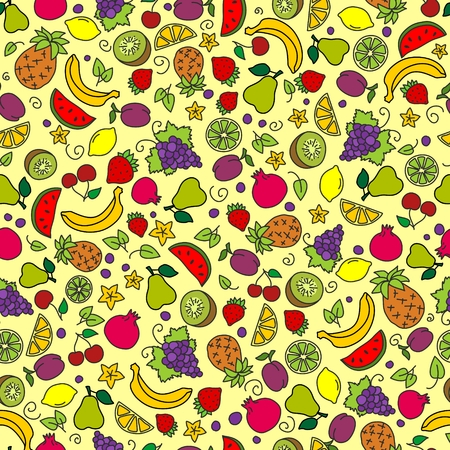 morsel: Background with fruits Illustration