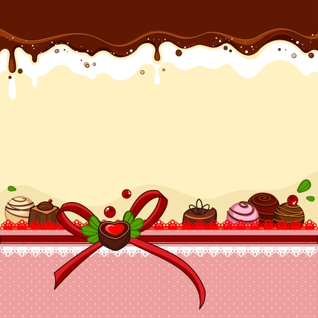stuffing: Banner with sweets Illustration
