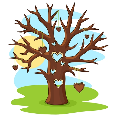hole in one: Tree with heart