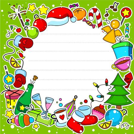 lobule: Christmas card in a circle