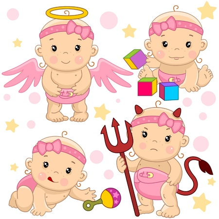 It is a little girl who is a little girl who has been a little girl. Illustration