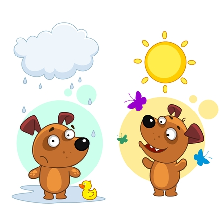 Collection of icons with dog.