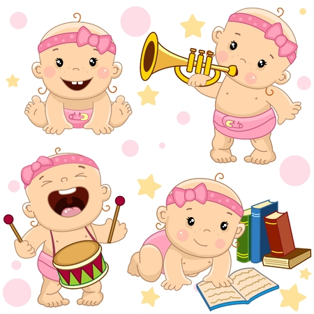 Collection icon of baby girl.