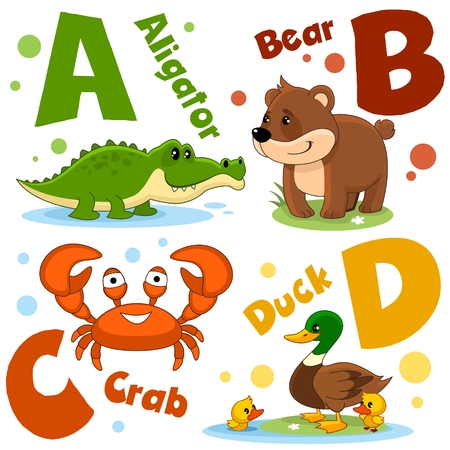 Letters from the English alphabet. For the education of children.