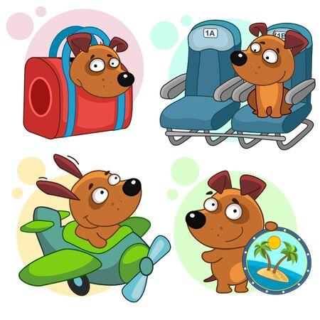 Set of childrens illustrations for children and design. I love you, I love you Stock Illustratie