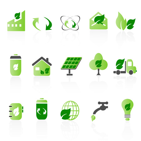 Green icon sets Vector